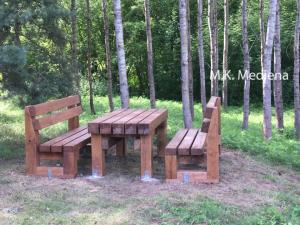 Ąžuoliniai lauko baldai, Panevėžio raj, savivaldybės užsakymas - mediskitaip.lt